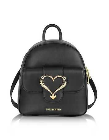 Eco Leather Backpack w/Heart Buckle