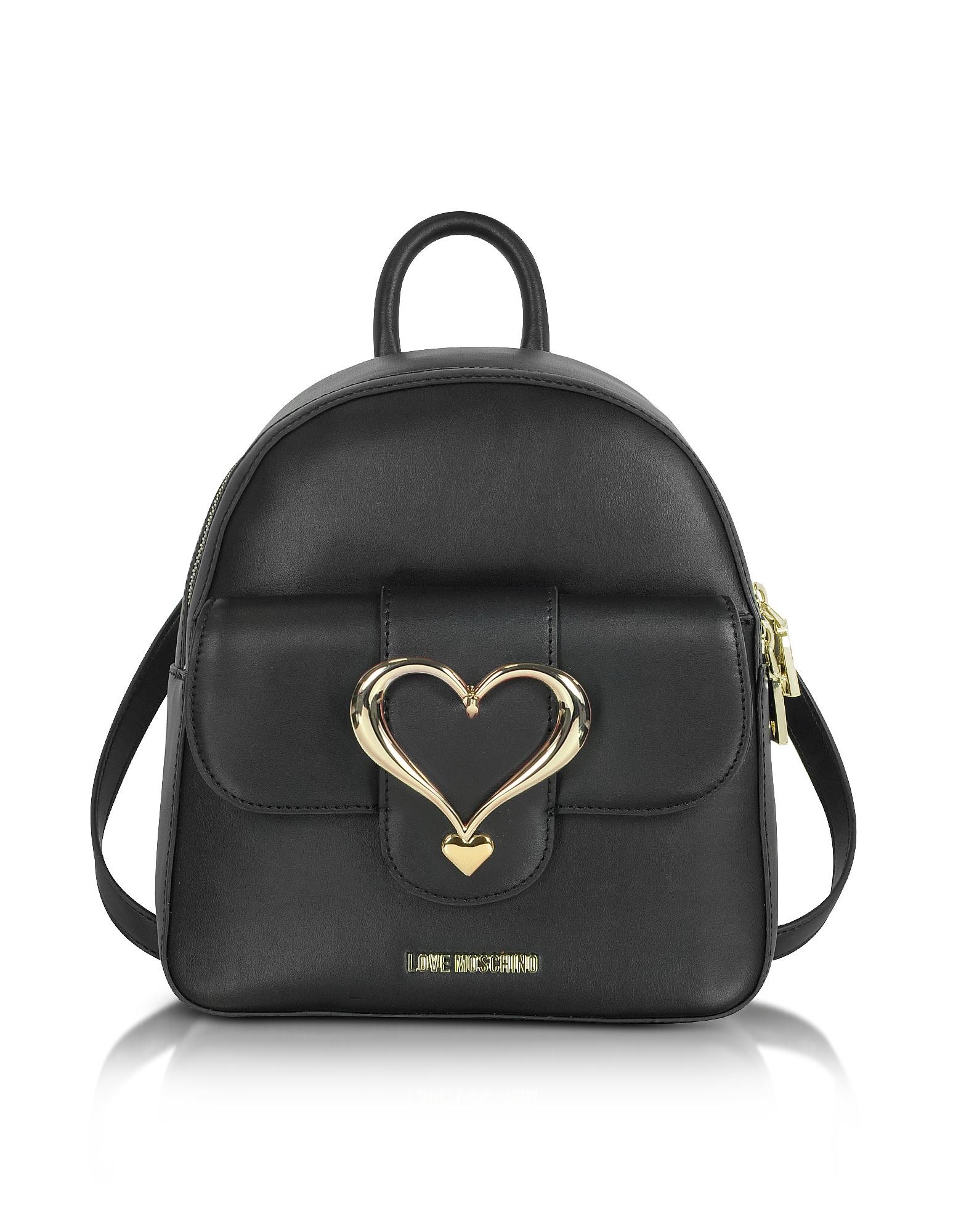 Рюкзак из Эко Кожи с Пряжкой Сердцем