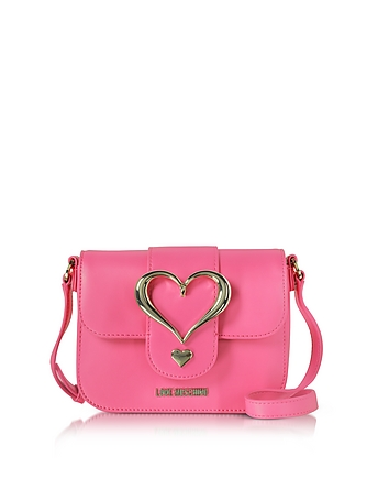 Love Moschino - Eco Leather Crossbody Bag w/Heart Buckle