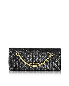 Evening Laminated Quilted Eco Leather Clutch - Love Moschino