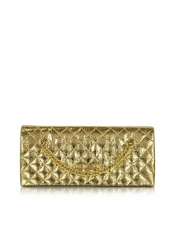 Love Moschino - Evening Laminated Quilted Eco Leather Clutch