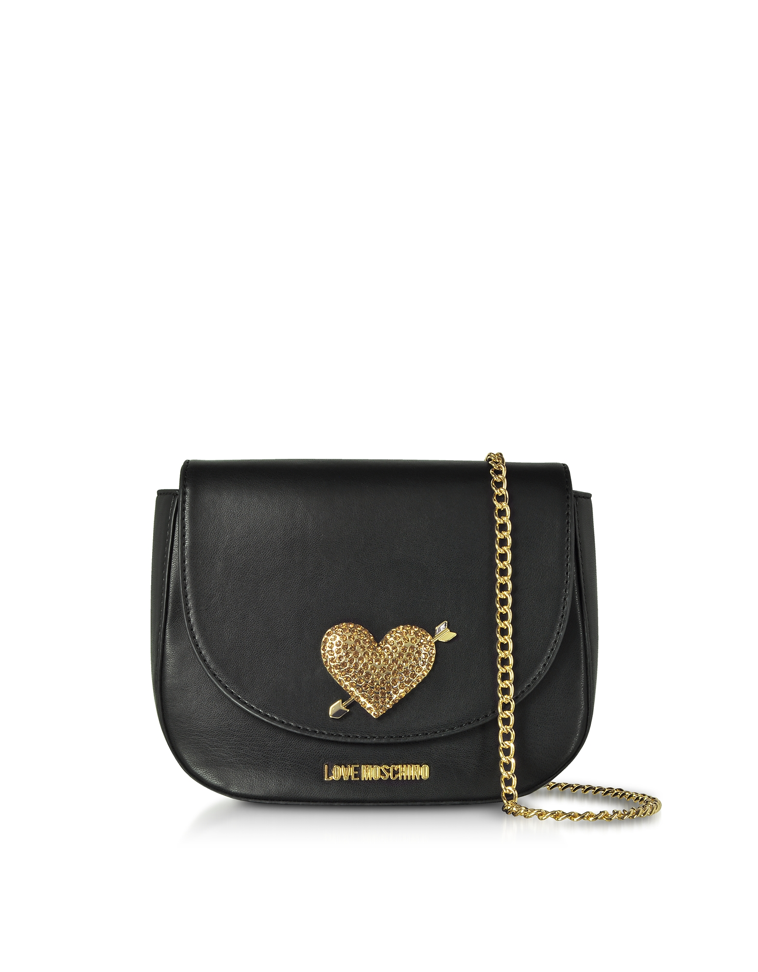 LOVE MOSCHINO Evening Bag Crossbody W/Strass in Black