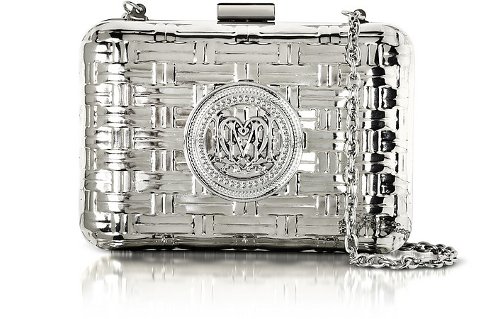 Metallic Clutch w/Chain - Love Moschino