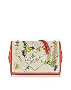 Love Moschino Borsa con Tracolla in Canvas Naturale e Eco Pelle Rossa - love moschino - it.forzieri.com