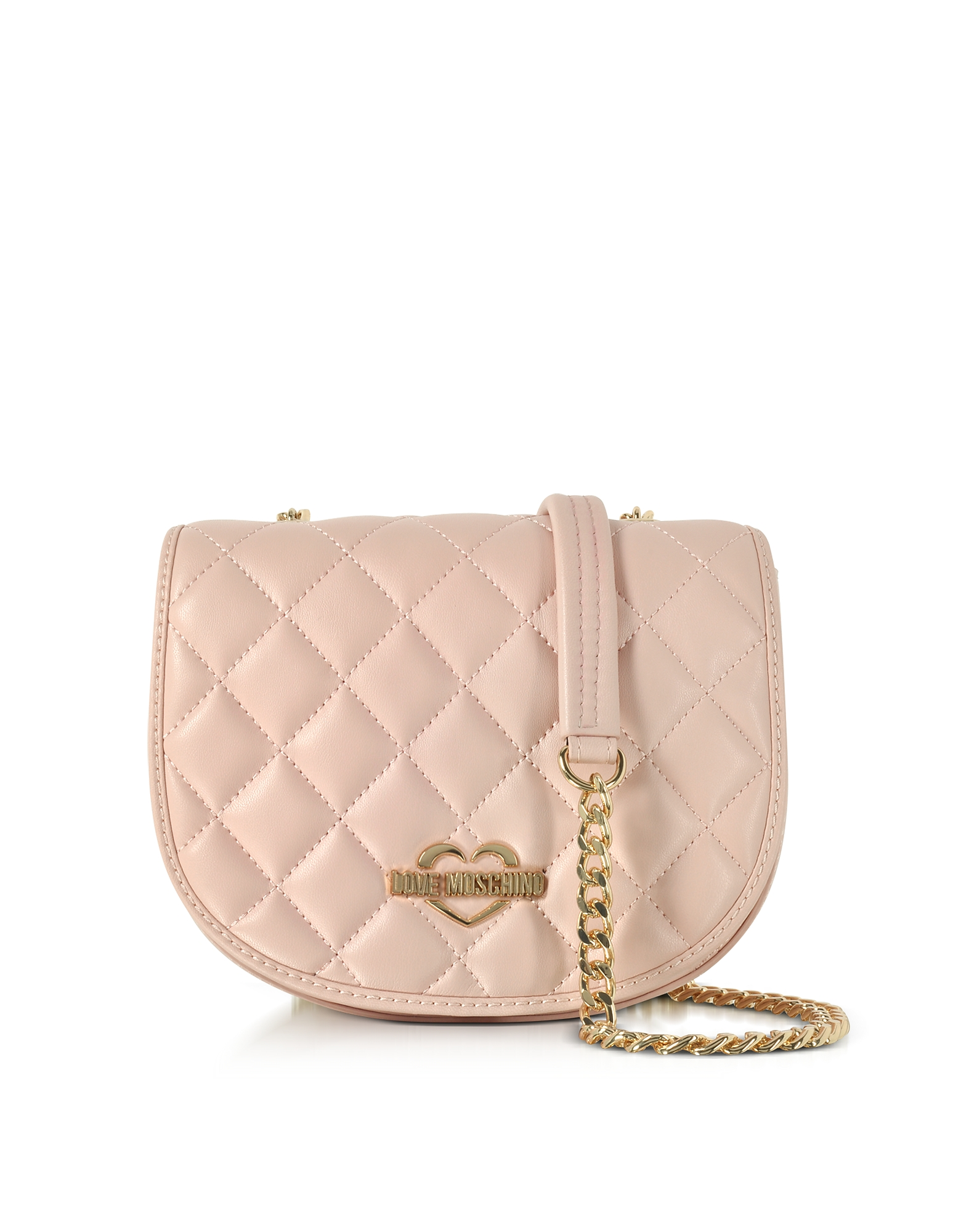 Love Moschino Handbags, Pink Superquilted Eco-Leather Small Crossbody Bag