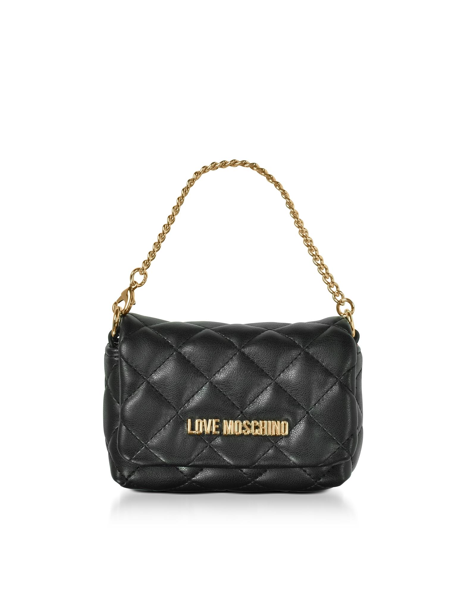 Mini Bag - Черный Клатч из Эко - Кожи