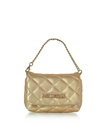 Mini Bag Gold Eco-Leather Clutch ms130218-040-00