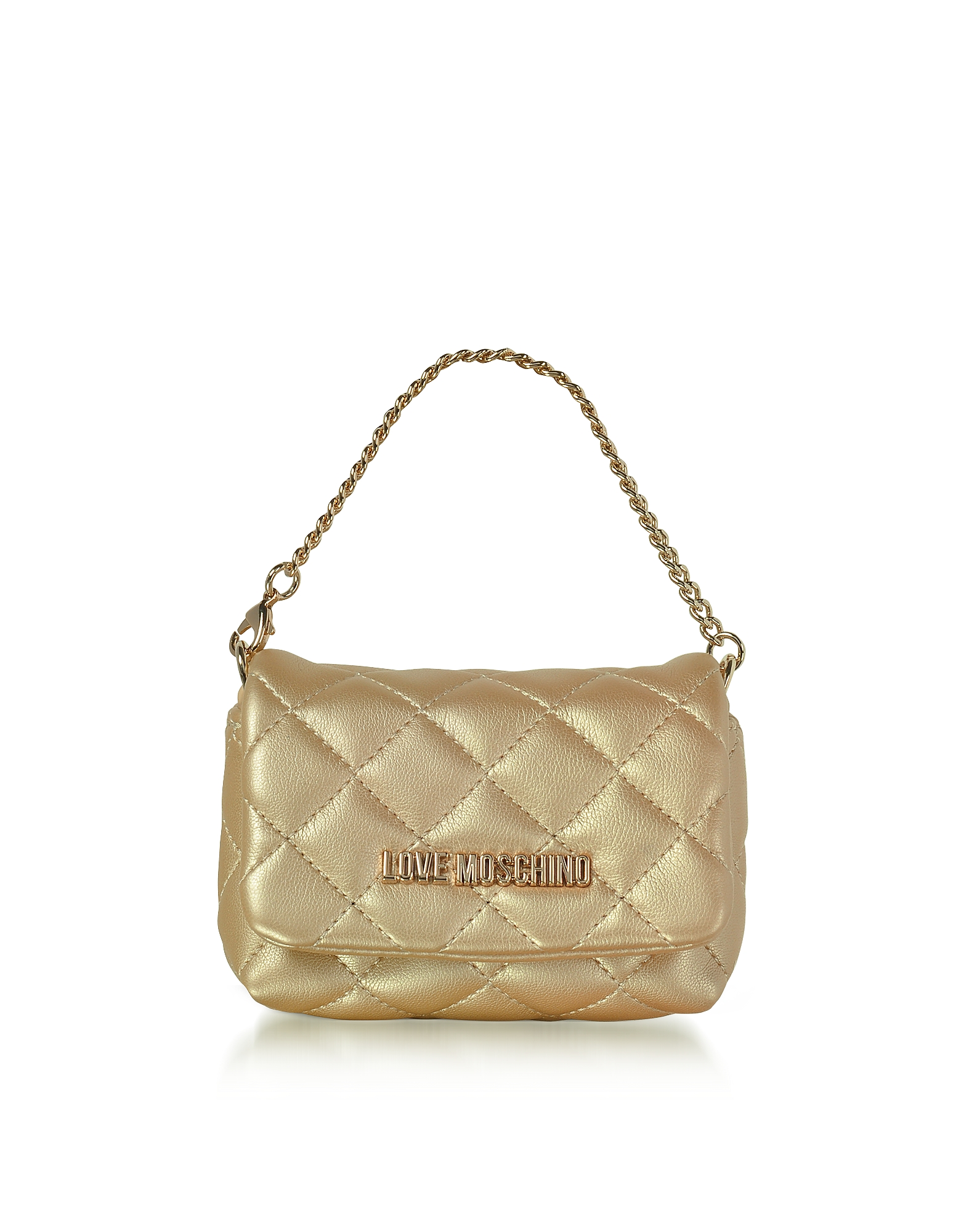 Mini Bag - Золотистый Клатч из Эко Кожи
