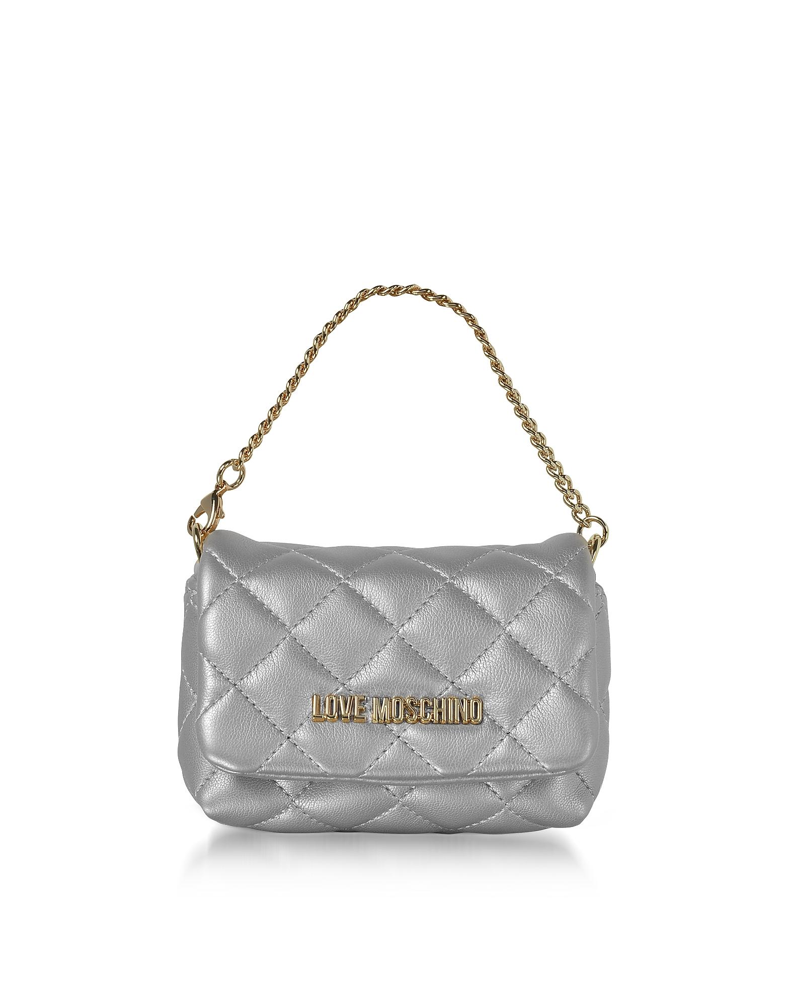 Mini Bag - Серебристый Клатч из Эко Кожи