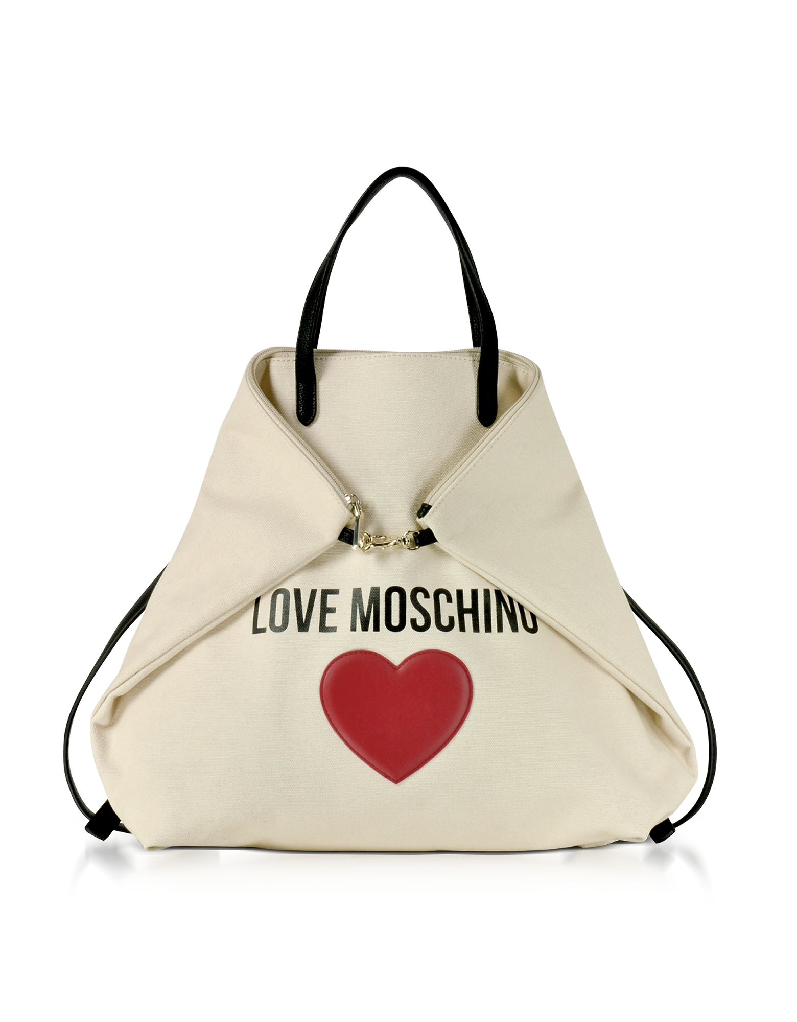 Love Moschino Handbags, Love Moschino & Heart Cotton Convertible Tote/Backpack