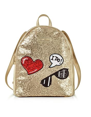 Sparkling Metallic Gold Backpack ms130218-053-00