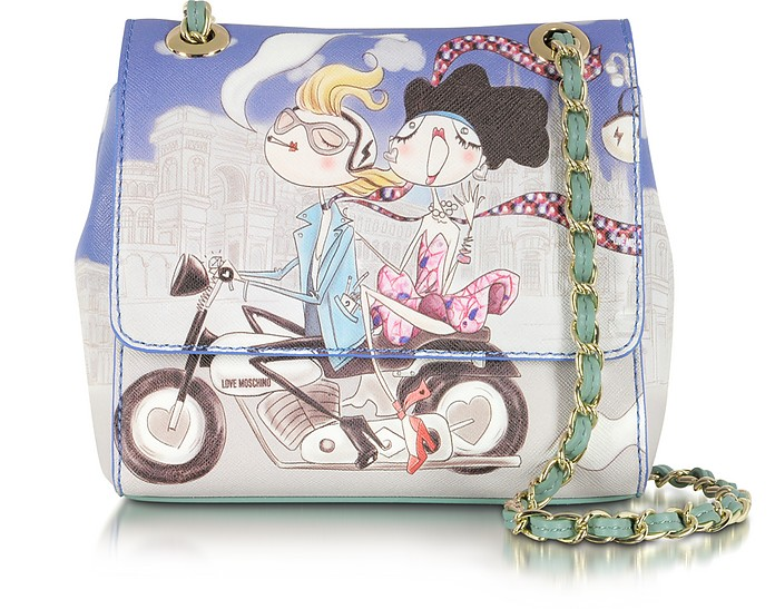 Love Moschino Girls Motocycle Small Saffiano Eco Leather Bag - Moschino
