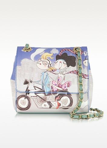 Love Moschino Girls Motocycle Small Saffiano Eco Leather Bag - Moschino