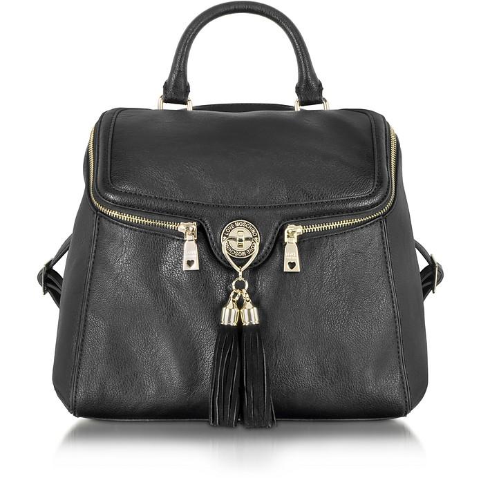 Love Moschino Pebble Grain Eco Leather Backpack - Moschino