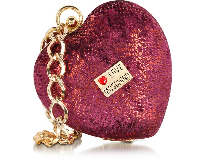 Love Moschino Heart-shape Mini Clutch - Moschino