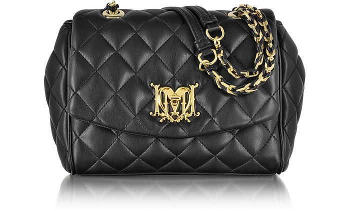 Love Moschino Black Quilted Eco-Leather Shoulder Bag  - Moschino