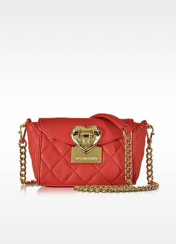 Quilted Mini Shoulder Bag - Love Moschino