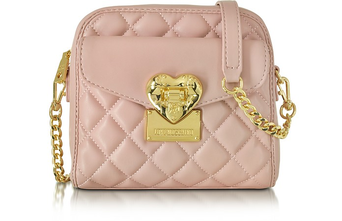 Quilted Small Shoulder Bag - Love Moschino