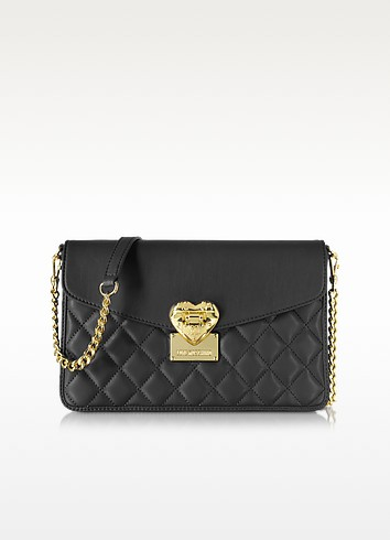 Quilted Medium Shoulder Bag - Love Moschino