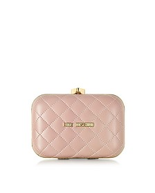 Small Quilted Clutch - Love Moschino