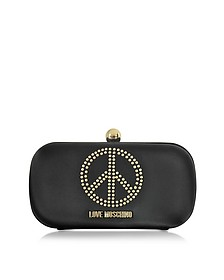 Black Satin Pouch - Love Moschino