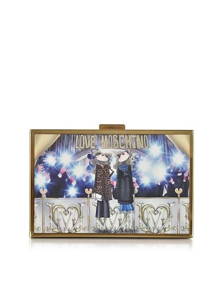 Foto Love Moschino Girls Box Clutch in Eco Pelle Borse donna
