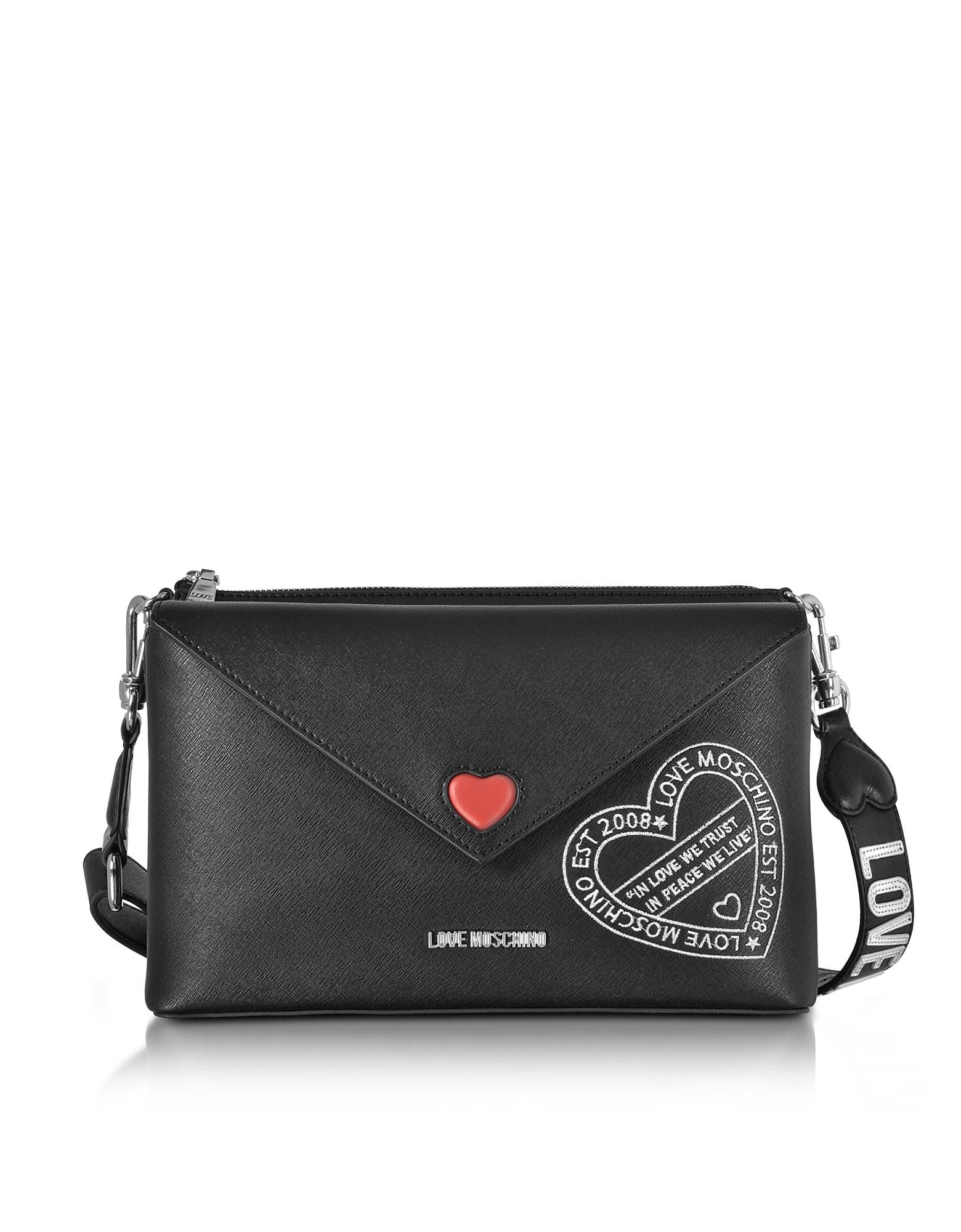Фото Pocket Love - Черная Сумка на Плечо из Эко-Кожи. Купить с доставкой