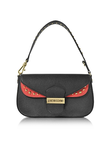 Love Moschino - Double Flap Color Block Eco Leather Shoulder Bag