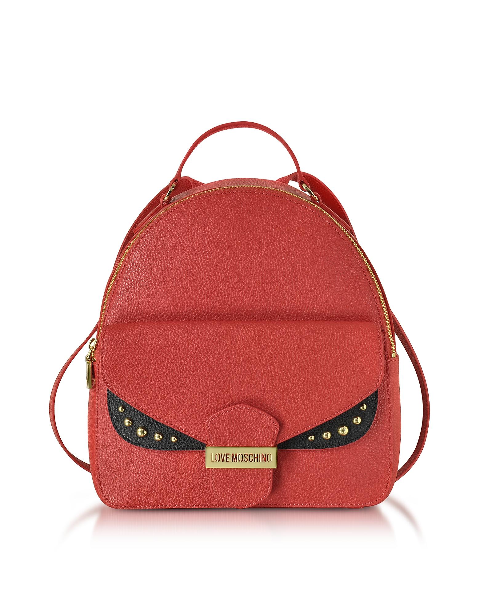 Фото Double Flap - Рюкзак с Цветными Блоками из Эко-Кожи. Купить с доставкой