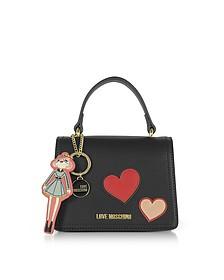 Girls & Hearts Red Mini Satchel Bag - Love Moschino