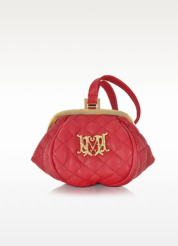 Quilted Eco Leather Mini Clutch - Love Moschino
