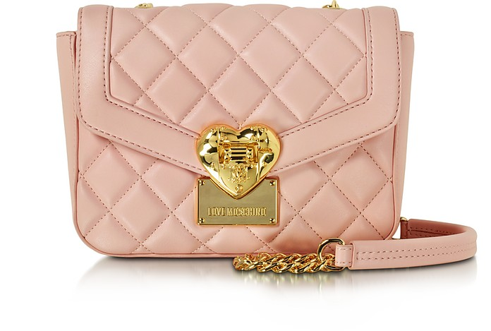 Small Quilted Shoulder Bag - Love Moschino