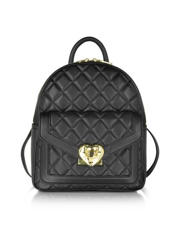 Heart Quilted Eco Leather Small Backpack