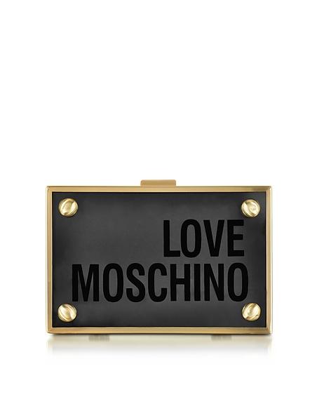 Foto Love Moschino Pochette in Plexiglass Trasparente con Logo Borse donna
