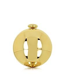 Light Copper Round Clutch - Love Moschino