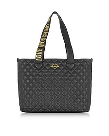 Fashion Quilted Eco-Leather Tote Bag - Love Moschino