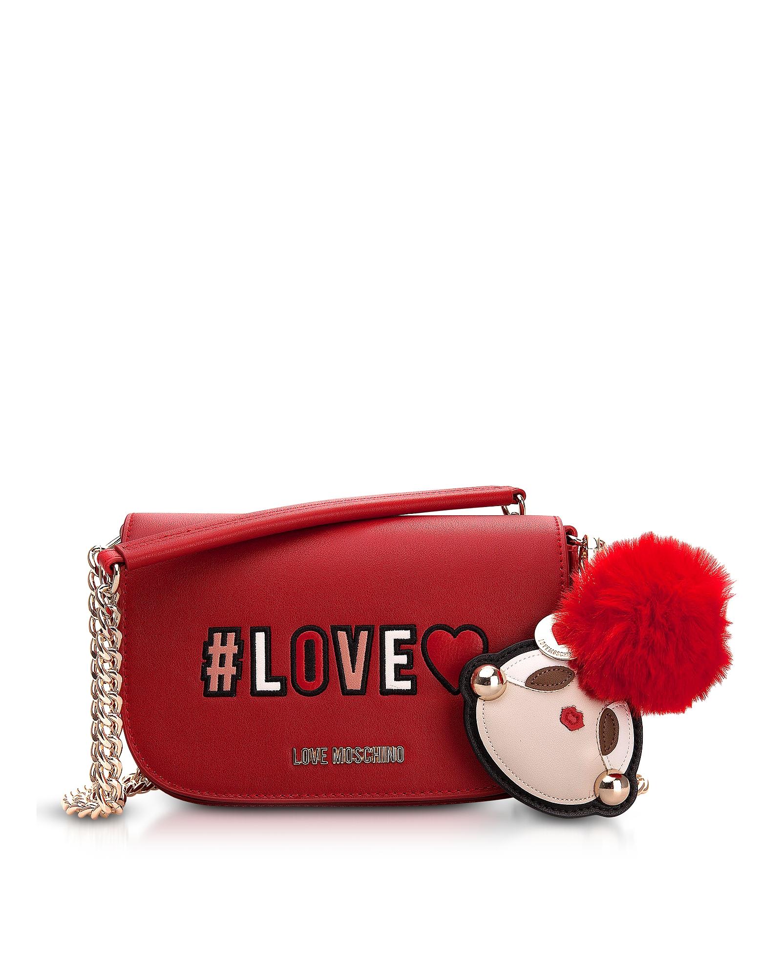 Love Flap Top Shoulder Bag