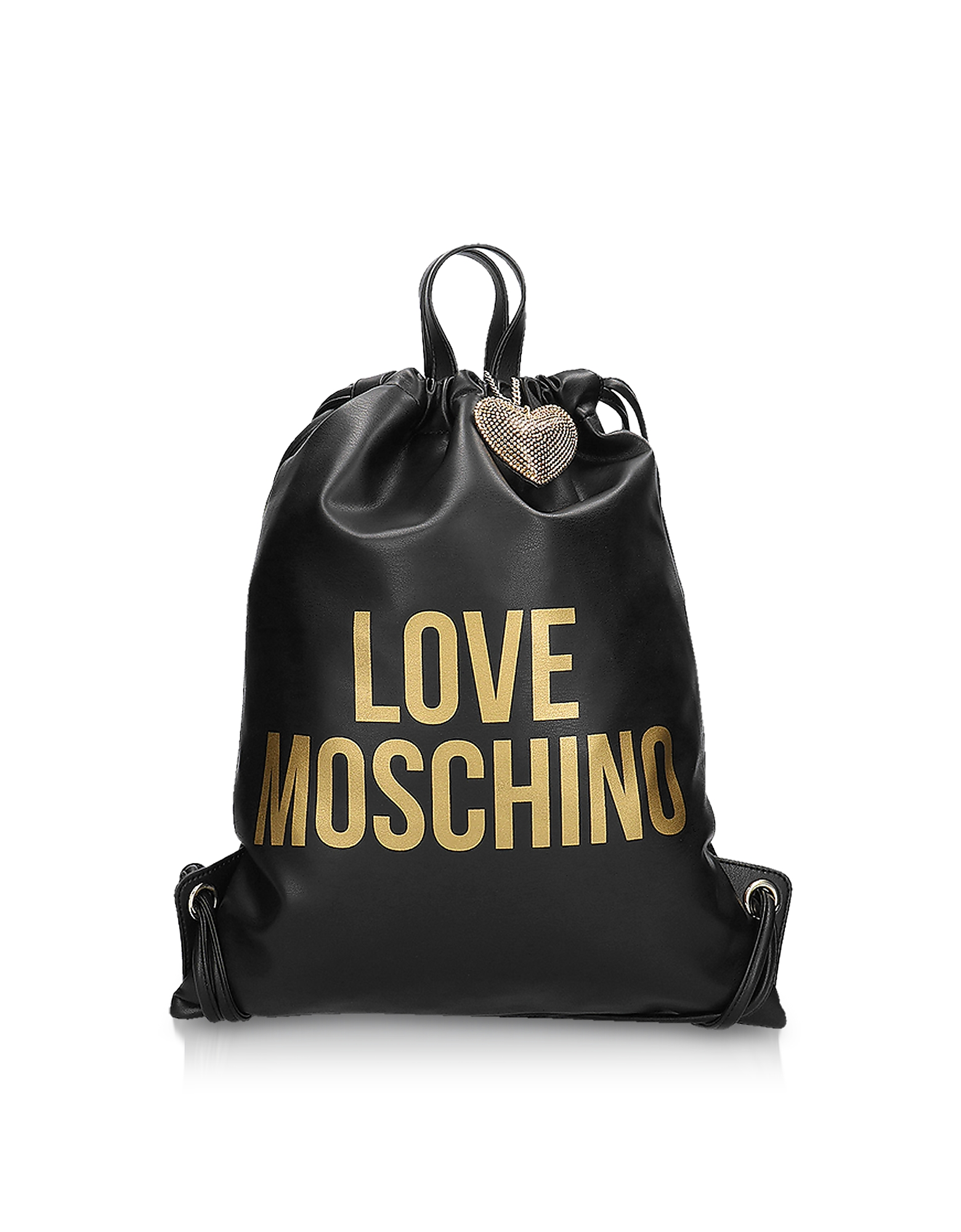 Golden Signature Printed Eco Leather Gym Bag