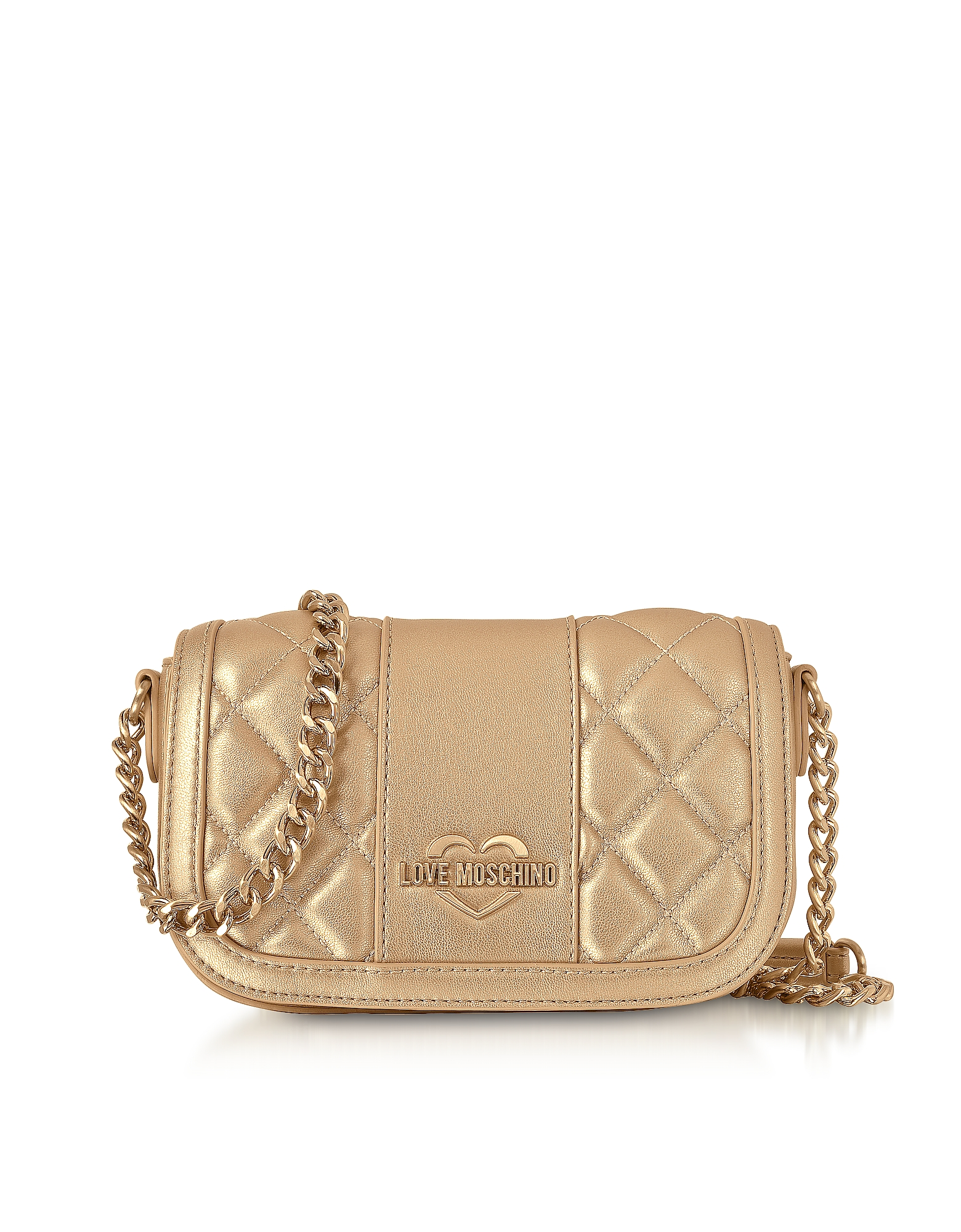 Metallic Quilted Eco Leather Mini Shoulder Bag