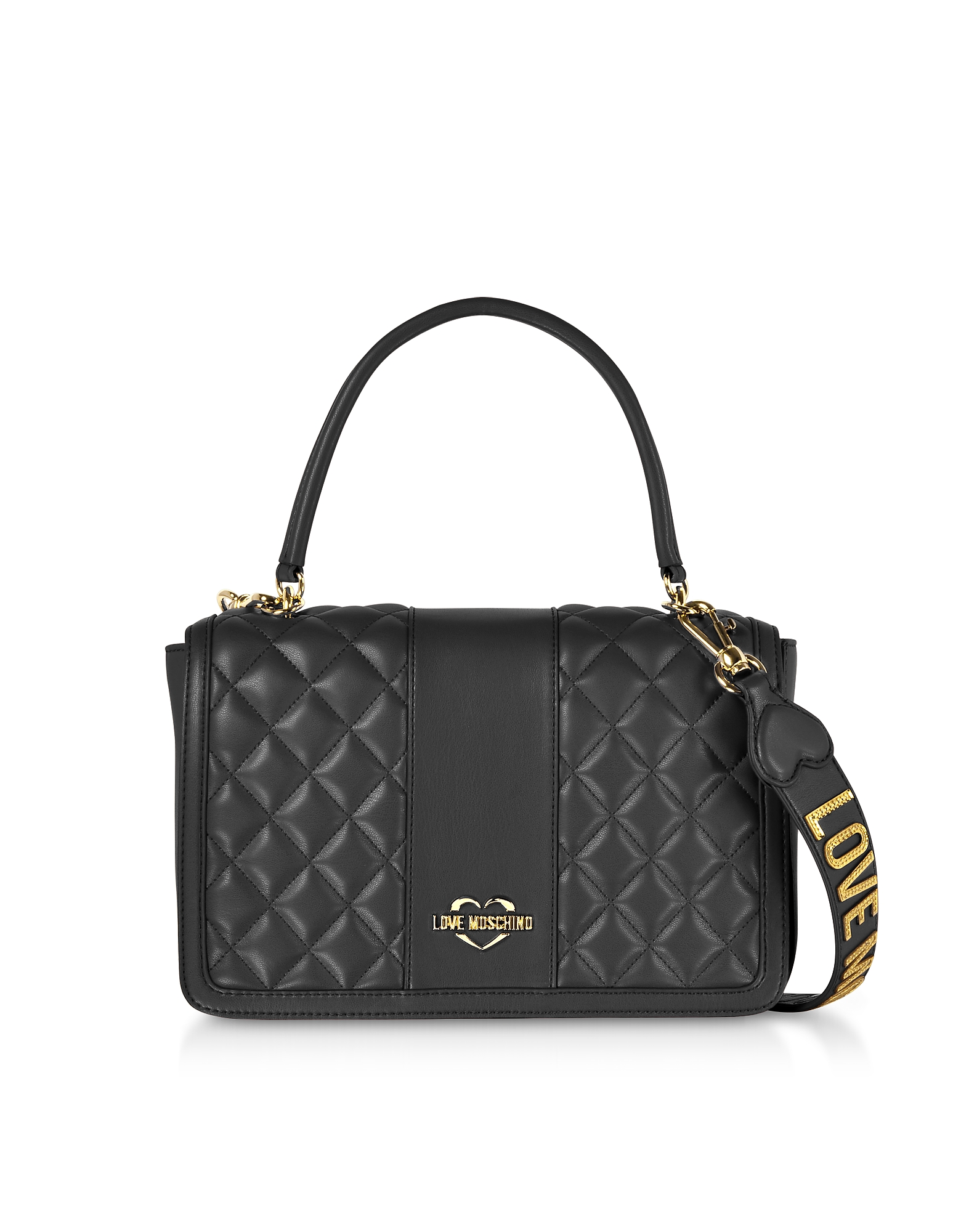Love Moschino Handbags, Quilted Eco Leather Top Handle Bag