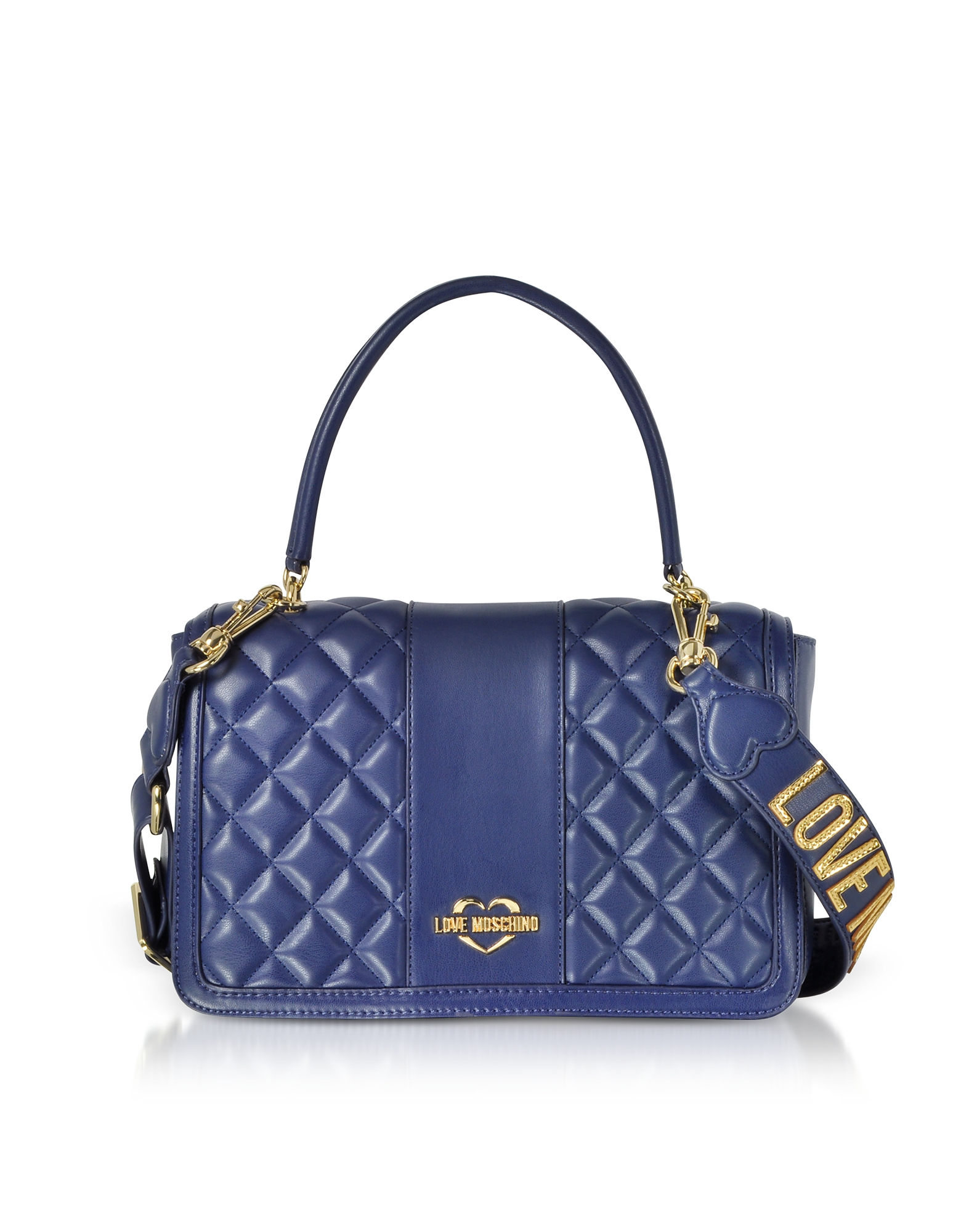 Quilted Eco Leather Top Handle Bag