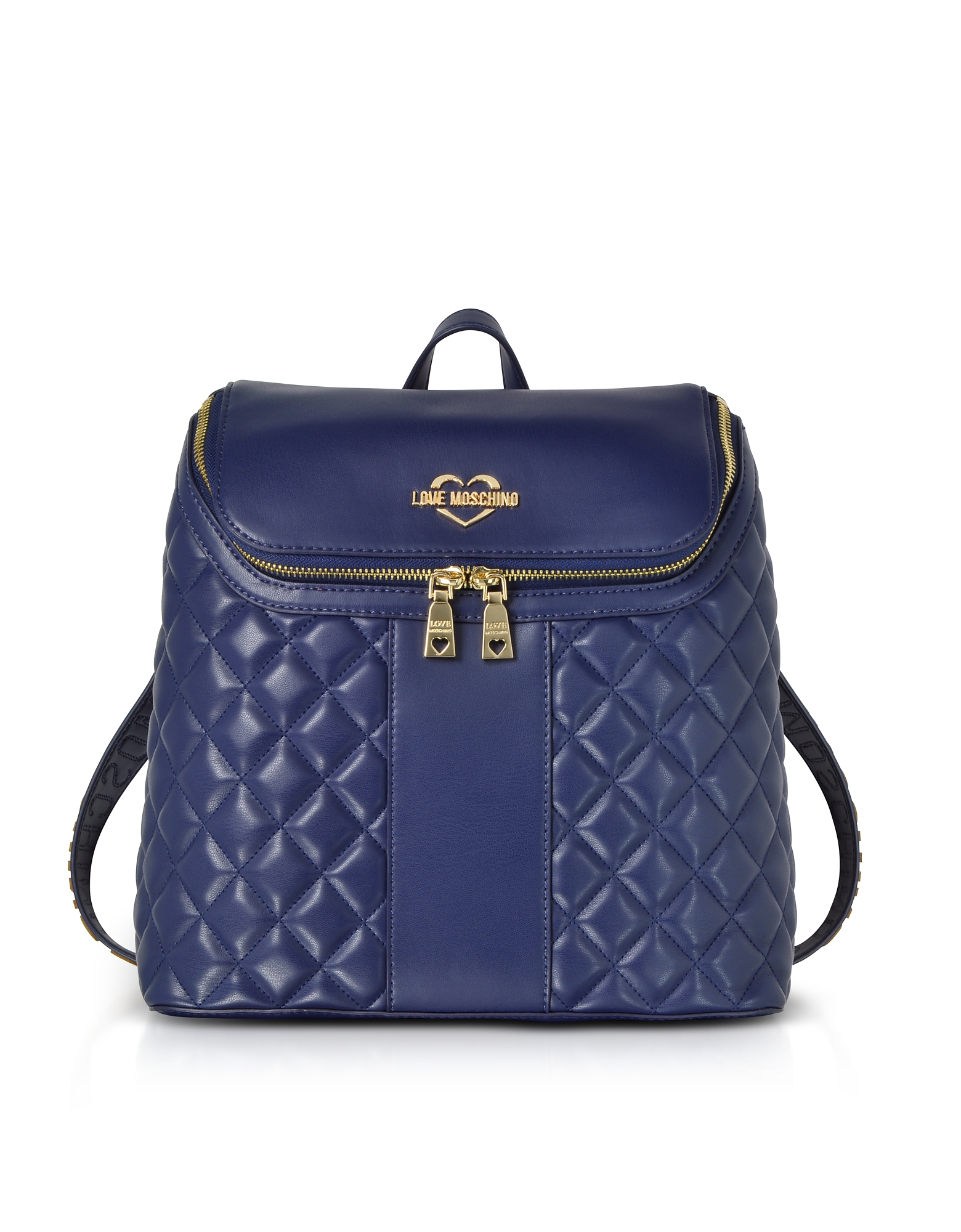 LOVE MOSCHINO Quilted Eco Leather Backpack in Blue