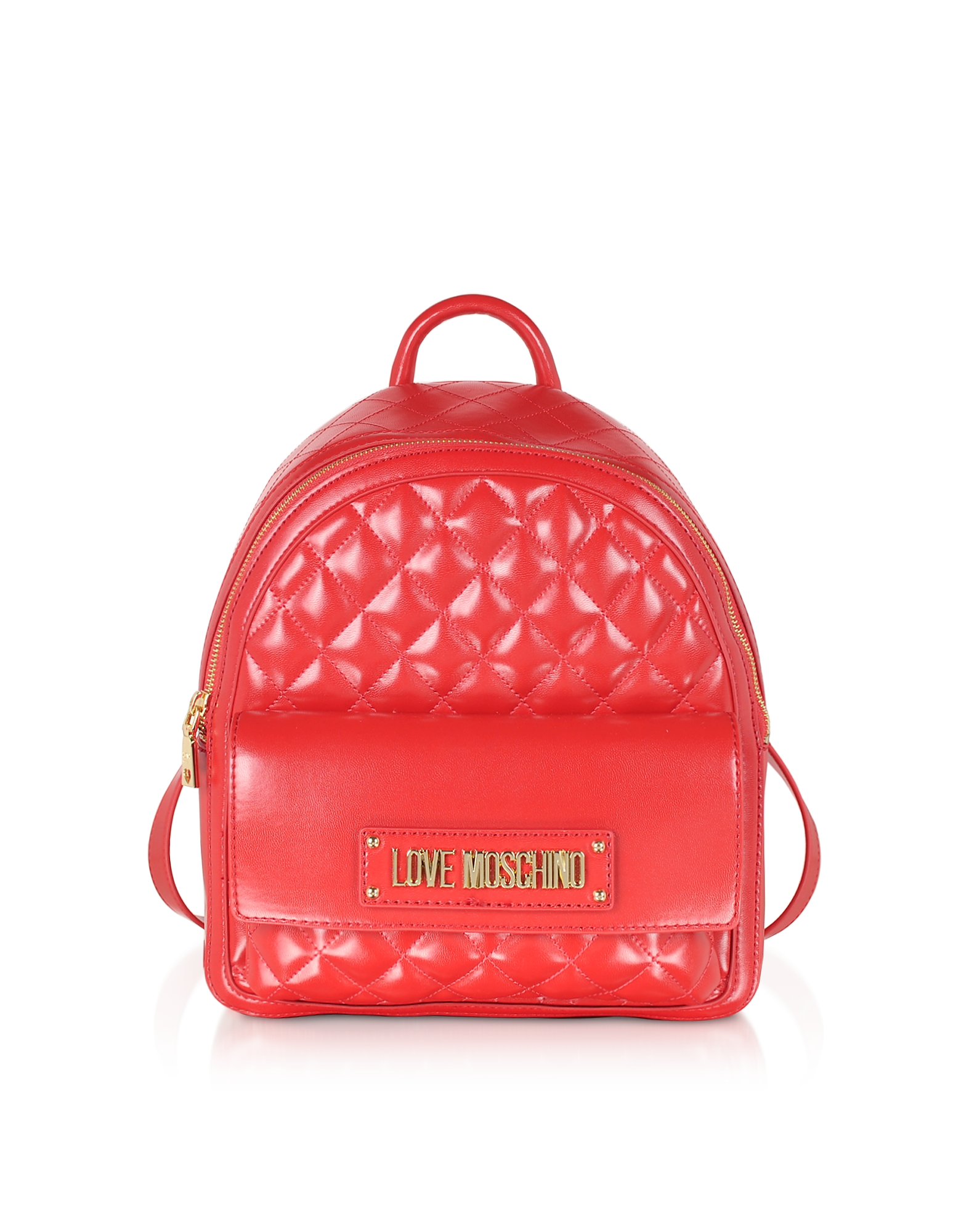 Love Moschino Designer Handbags, Quilted Eco-leather Backpack