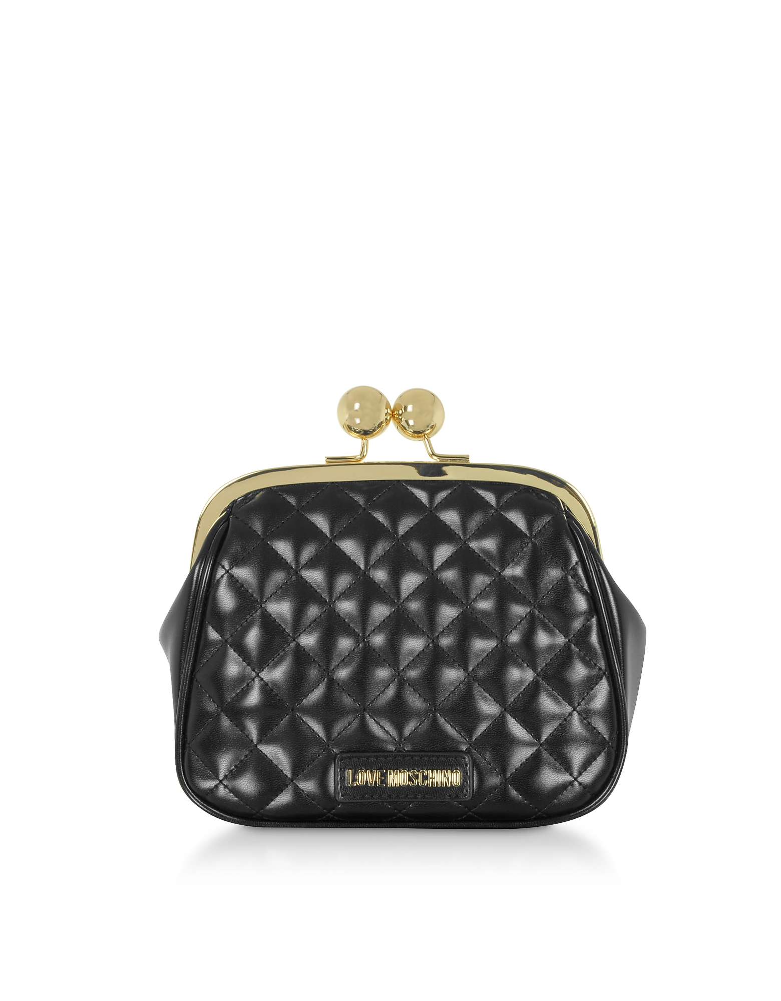 Quilted Eco-leather Clutch w/Chain