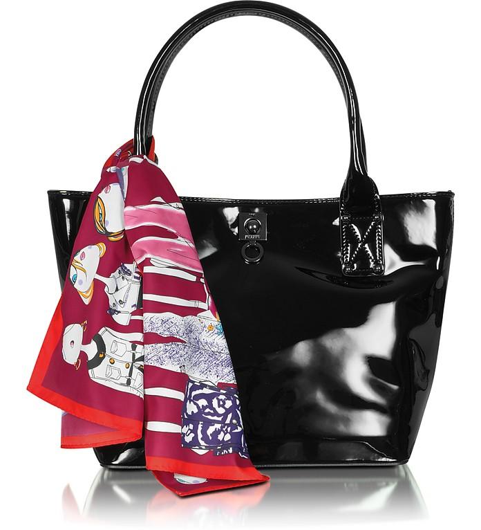 Love Moschino - Black Patent Tote Bag - Moschino