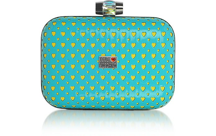 Love Moschino - Heart Laser Patent Eco-Leather Clutch - Moschino