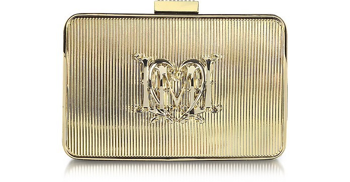 Golden Metal Clutch - Moschino