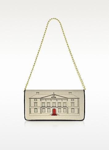 Palazzo - Canvas and Patent Shoulder Bag - Moschino 摩斯基诺