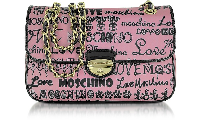 Love Moschino - Pink Signature Canvas Shoulder Bag - Moschino