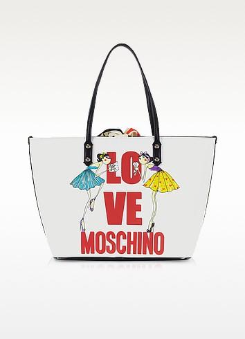 Love Moschino - White Saffiano Eco Leather Tote - Moschino